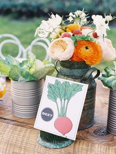 Farm to Table centerpiece decor