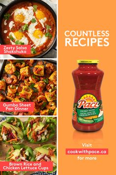 Spice things up with Pace® Salsa Healthy Meals To Cook, Healthy Snacks, Healthy Recipes, Sauce Recipes, Cooking Recipes, Great Recipes, Dinner Recipes, Food Now, Salsa Recipe