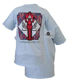 Southern Couture Preppy Shellfish Paisley Comfort Colors Chambray Girlie Bright T Shirt