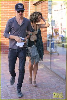 Austin Butler of The Carrie Diaries and girlfriend Vanessa Hudgens out in Beverly Hills on Monday