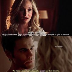 """TVD   6.16/8.07 Steroline both making """"no humanity pacts"""" for 1 year. Neither of them really worked out but it wouldn't be that great if they did, would it? • qotp: Stefan or Caroline without their humanity? aotp: Caroline • • #stefansalvatore #carolineforbes #stefan #caroline #steroline #salvatore #forbes #paulwesley #candiceaccola #candiceking #candiceaccolaking #paul #candice #wesley #accola #wescola #king #tvd #tvdforever http://misstagram.com/ipost/1545785065060830039/?code=BVzu1OmDgtX"""
