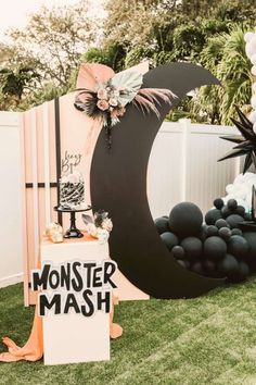 Don't miss this fun Halloween party! Love the cake!! See more party ideas and share yours at CatchMyParty.com