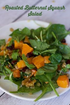 : Roasted Butternut Squash Salad Warm roasted butternut squash ...