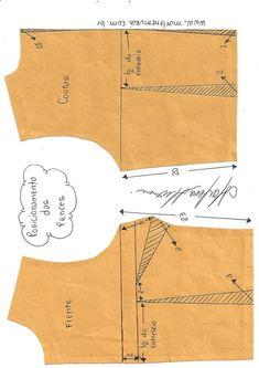 Transferência e pences e pences camufladas - DIY - molde, corte e costura - Marlene Mukai