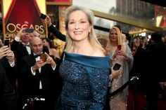 Oscar 2017. Meryl Streep arrives in Elie Saab on the Oscars red carpet for the 89th Academy Awards.