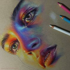 🌕 Gorgeous portrait with colored pencils ✨ swipe to see step by step 👉 😁 Guess who? Amazing Drawings, Cool Art Drawings, Pencil Art Drawings, Realistic Drawings, Colorful Drawings, Art Drawings Sketches, Horse Drawings, Drawing Ideas, Colored Pencil Artwork