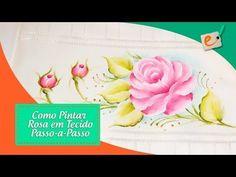 Como Pintar Rosa em Tecido - Passo a Passo - YouTube