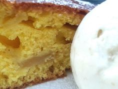Torta di mele e Gelato byNice allo Zenzero Gelato, Cornbread, Vanilla Cake, Ethnic Recipes, Desserts, Food, Millet Bread, Tailgate Desserts, Ice Cream