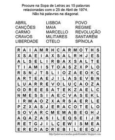 sopa de letras infantil para imprimir de portugues