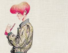 """Check out new work on my @Behance portfolio: """"Pink hair Punk girl"""" http://on.be.net/1FxyzG2"""