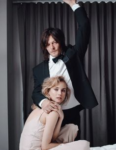 Norman Reedus and Diane Kruger photographed by Eric James Guillemain for GQ Italia