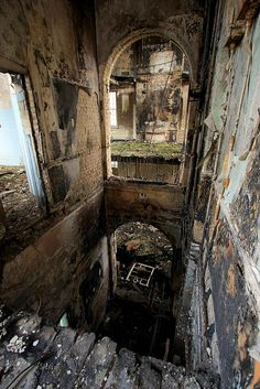 Cane Hill Asylum in Surrey. We planned to explore here once for some pictures, but arsonists got there first and now it's been torn down.
