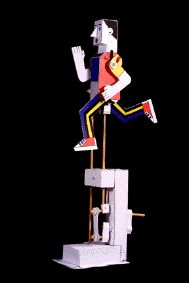 Man runner - a paper automaton kit by Peter Markey