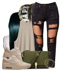 """""""Untitled #661"""" by b-elkstone ❤ liked on Polyvore featuring Reverse, NIKE, Elizabeth and James and H&M"""
