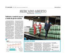 Título: Botijões em série. Veículo: Folha de S. Paulo, coluna Mercado Aberto. Data: 08/10/2014. Cliente: Copagaz.