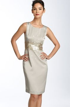 sheath with sequins