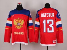 2014 Sochi Winter Olympic Team Russia 13 Pavel DATSYUK Red Jersey