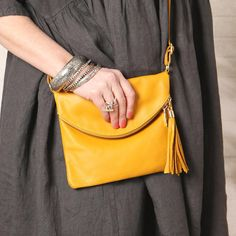 Italian Leather Cross Body Shoulder Bag with Tassel. Italian Leather, Evening Bags, Leather Crossbody Bag, Cross Body, Tassels, Shoulder Strap, Purses, My Style, Fashion