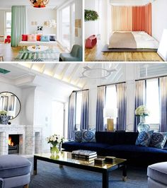 Ombre Draperies are Statement Textiles