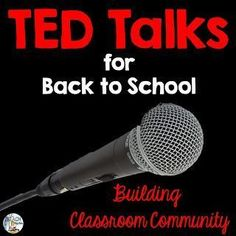 Three TED Talks that are great for the beginning of the school year or semester.