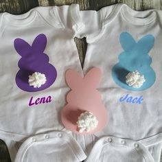 If interested in ordering gift to send: Easter Bunny Personalized Cute Boy or Girl Baby by NCPrintables