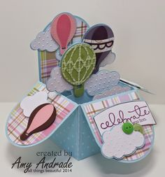 all things beautiful: UMT # 46 - Up, Up and Away Birthday Box Card