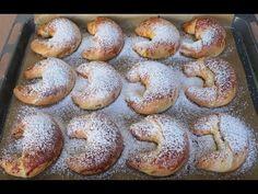 Nusskipferl - YouTube Pecans, Almonds, Bagel, Doughnut, Pasta, Bread, Cookies, Baking, Youtube
