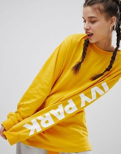 Ivy Park | Ivy Park Long Sleeve T-Shirt In Yellow