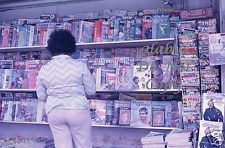 90.00 Orig 1974 35mm Slide DC COMIC BOOK DISPLAY & MAGAZINES @ NEWSSTAND Cambridge MA