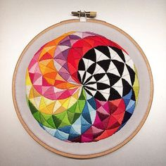 Finally, finally done with this one!  .. .. .. .. #embroidery #handembroidery #stitch #stitching #handstitching #sew #sewing #handsewing #handsewn #satinstitch #colour #allthecolours #mandala #hoop #hoopart #embroideryart #modernembroidery #contemporaryembroidery #dmc #dmcthreads #handmade #madebyme #etsy #etsyshop #etsyseller #thegrumpycrafter #embroideryinstaguild