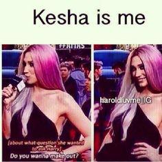 Ke$ha is me. I am Ke$ha. We are one >>> lol and look niall is behind her xD