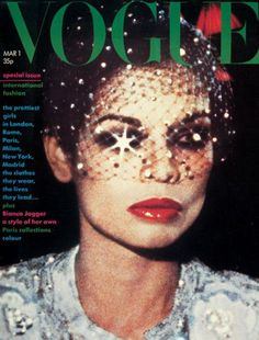 Bianca Jagger , cover Vogue/ first wife of Mick...
