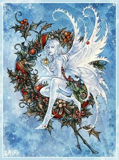 These fairy illustrations are the coolest, the awesomest collected from all over the internet. A treat for fairy tale illustrations fan-base. Yule, Fantasy Kunst, Fantasy Art, Winter Fairy, Fairy Pictures, Christmas Fairy, Winter Christmas, Xmas, Love Fairy