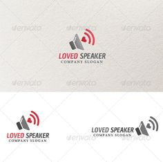 Loved Speaker  Logo Template — Vector EPS #speaker logo #favorite • Available here → https://graphicriver.net/item/loved-speaker-logo-template/3965337?ref=pxcr