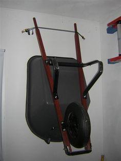 My solution to wheelbarrow storage. - The Garage Journal Board