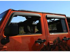 Rugged Ridge Wrangler Window Visors Matte Black 11349.12 (07-16 Wrangler JK 4 Door) - Free Shipping