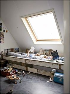 I think that the end to end bed idea is absolutely wonderful, no heights and ladders, better sibling bonding and honestly the beds could but up exactly against each other and it'd be one giant bed for them to sleep together in- or put a shelf in between the end so each kid has their own space.
