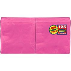 Amscan Big Party Pack 125 Count Luncheon Napkins, Bright ...