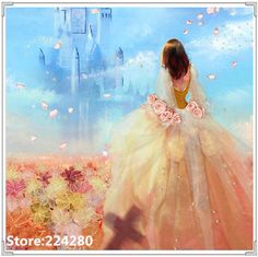 >> Click to Buy << Needlework,DMC Cross stitch,14CT Unprinted Dream girl Princess cute Embroidery kit Art people Cross-Stitching,DIY Handmade decor #Affiliate
