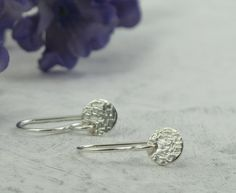 Linen+Texture+Earrings++petite+dangles++by+KathrynRiechert+on+Etsy,+$15.00