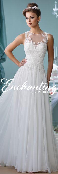 Enchanting by Mon Cheri Spring 2016 ~Style No. 116127 #chiffonandlaceweddingdress