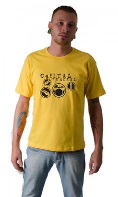 Camiseta Capital Inicial 01 por apenas R 37.91 Camisetas Engraçadas 0fdf6b95e3c