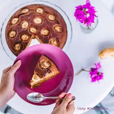 Healthy banana cake with honey Recipe and photo credit Recipe link in bio Honey Recipes, Dairy Free Recipes, Baking Recipes, Healthy Banana Cakes, Recipe Link, Free Food, Good Food, Cooking, Desserts