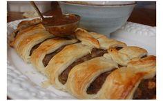 10 of the best vegan Christmas recipes | The Vegan Society. Pictured: Chestnut pâté strudel.