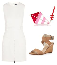 """Little white dress for spring"" by cochicstyling on Polyvore featuring Tom Ford, Kate Spade and rag & bone"