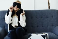 Browse our selection of comfortable fashion accessories that will help you get rest during travel. Enjoy high quality material and well-designed products. Inflatable Neck Pillow, Long Flight Tips, Comfortable Fashion, Travel Style, Travel Inspiration, Fashion Accessories, Rest, Winter Jackets, Wellness
