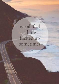 We all feel...