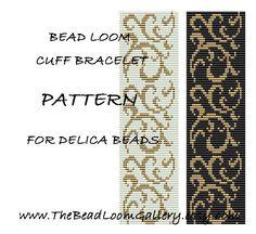 Bead Loom Cuff Bracelet Pattern Vol.25 PDF File PATTERN