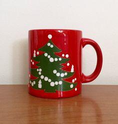 Vintage Waechtersbach Christmas Tree Mug by BoomerangModern & Waechtersbach Santa\u0027s Sleigh Christmas Mugs Set of SIX Vintage ...