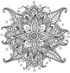 Flowers & Leaves - I Create Coloring Mandalas And Give Them Away For Free | Bored Panda